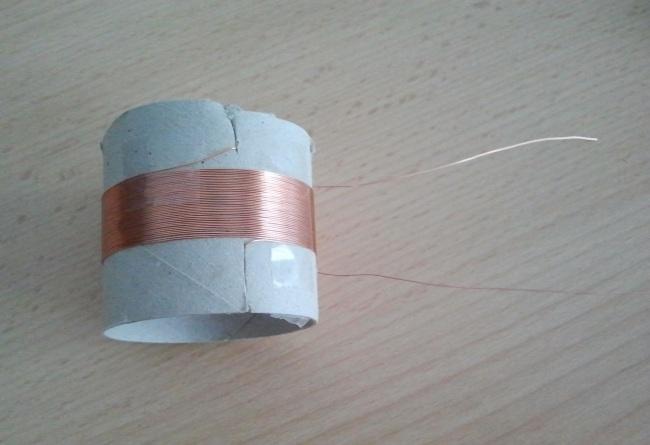 Spule für das Detektorradio