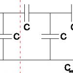 Aufteilung der unendliche Kondensatorkette.