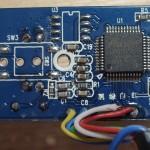 Die andere Seite der Webcam-Platine mit dem Aveo 316H-XS1A Chip.